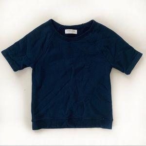 Everlane Crewneck Size XS Navy Blue Short Sleeve